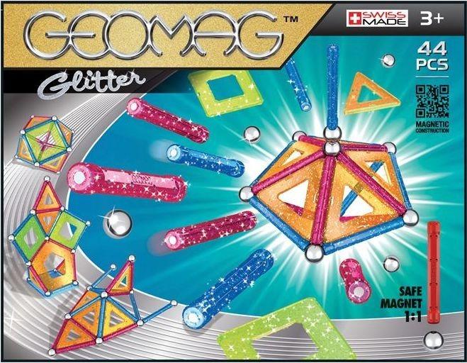 Magnetická stavebnice GEOMAG - Glitter 44 dílků