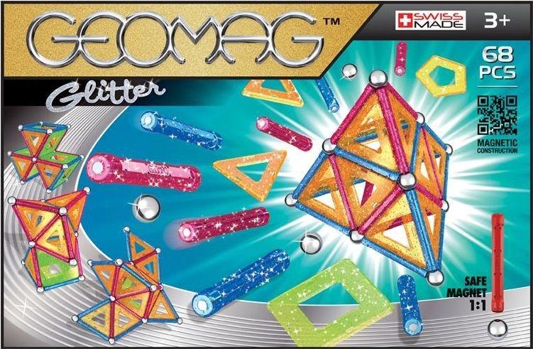 Magnetická stavebnice GEOMAG - Glitter 68 dílků