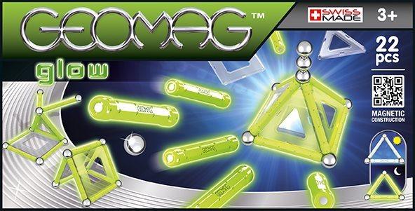 Magnetická stavebnice GEOMAG - Panels Glow 22 dílků