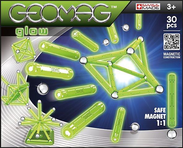 Magnetická stavebnice GEOMAG - Panels Glow 30 dílků