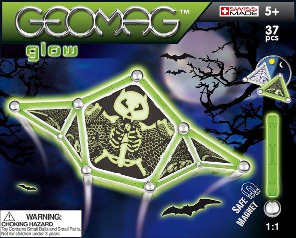 Magnetická stavebnice GEOMAG - Kids Panels Glow 37 dílků
