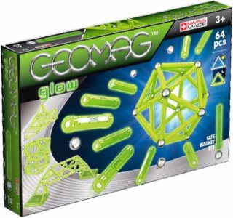 Magnetická stavebnice GEOMAG - Glow 64 dílků