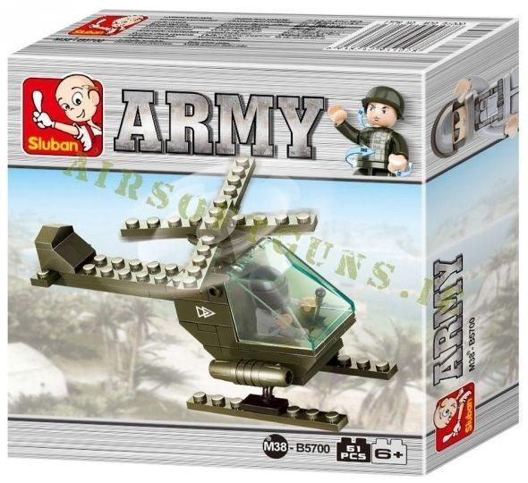 Stavebnice SLUBAN Gyrodine - Bitevní helikoptéra