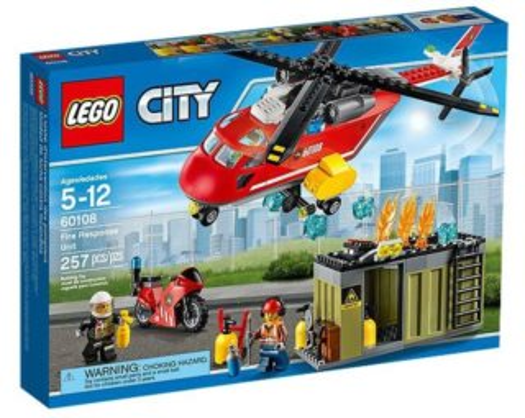 Stavebnice LEGO® City Hasiči – 60108 Hasičská zásahová jednotka