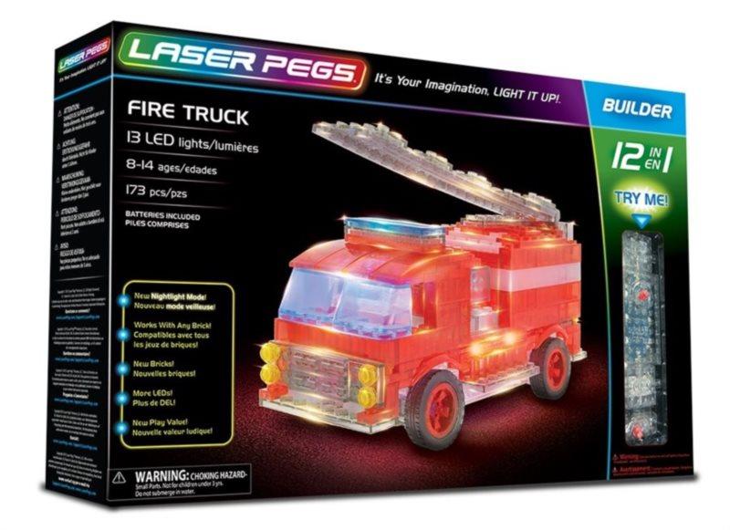 Svítící stavebnice LASER PEGS Hasičské auto 12v1