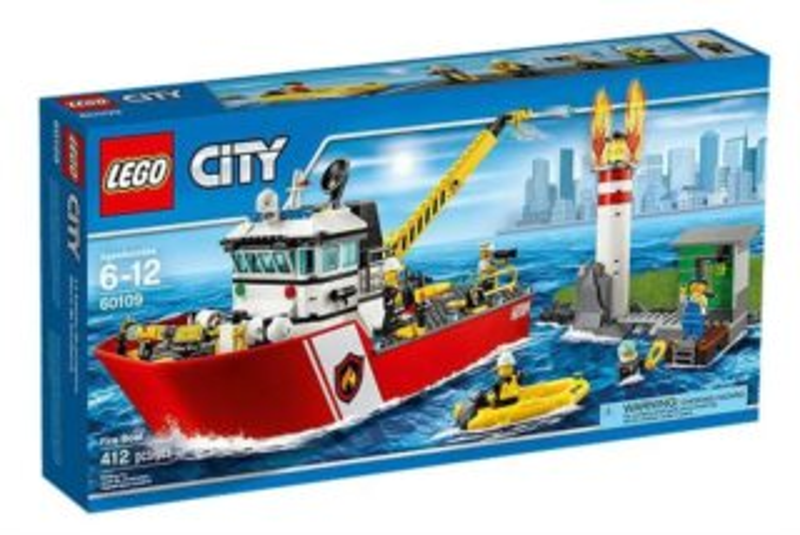 Stavebnice LEGO® City Hasiči – 60109 Hasičský člun
