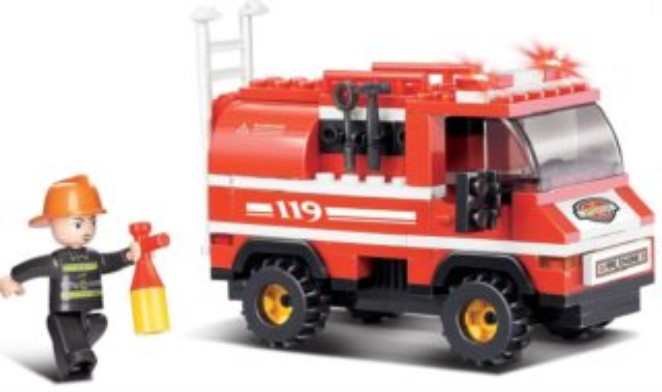 Stavebnice SLUBAN Malý hasičský vůz
