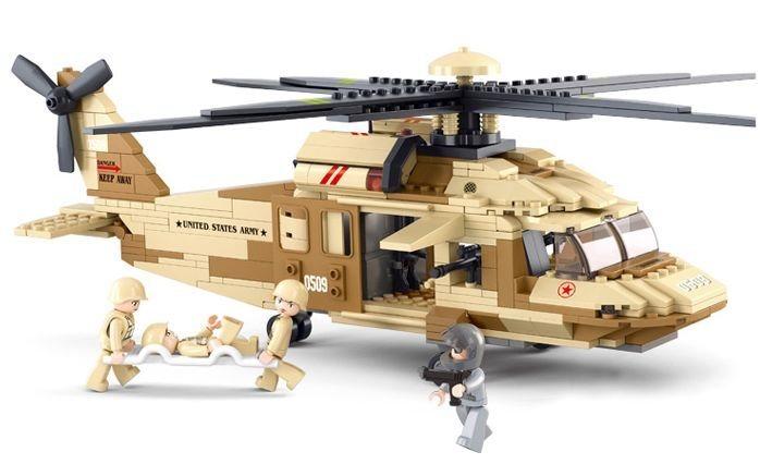 Stavebnice SLUBAN Helikoptéra Blackhawk UH-60L