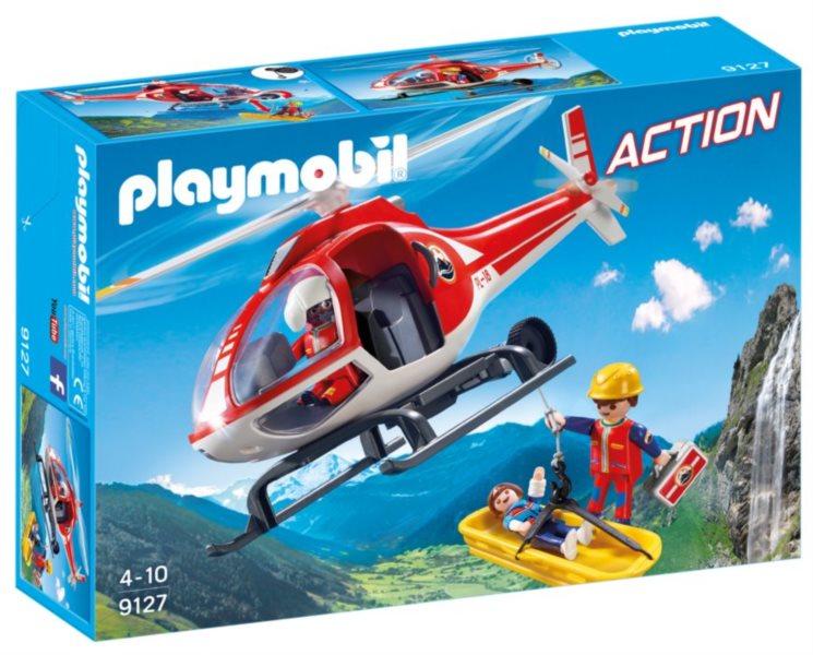PLAYMOBIL Helikoptéra horských záchranářů 9127