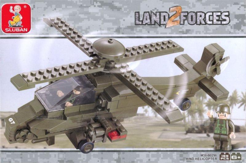 Stavebnice SLUBAN Hind - Útočná helikoptéra