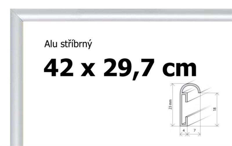 BFHM Hliníkový rám na puzzle 42x29,7cm A3 - stříbrný