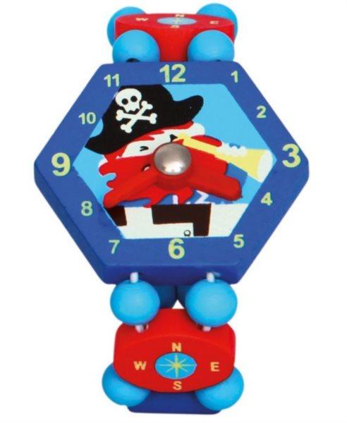 BINO Dřevěné hodinky: Pirát