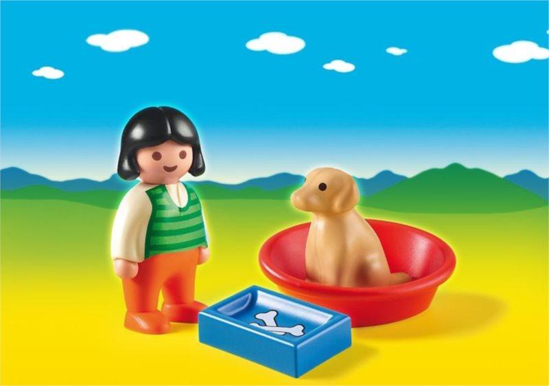 Playmobil 6796 Holčička s pejskem (1.2.3)