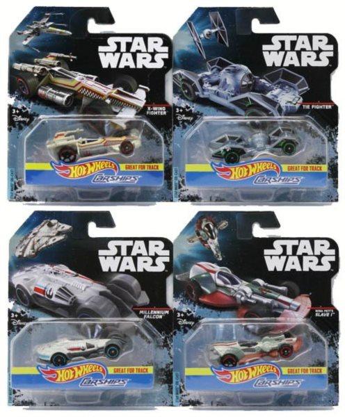 MATTEL Hot Wheels autíčko Star Wars - lodě (mix)