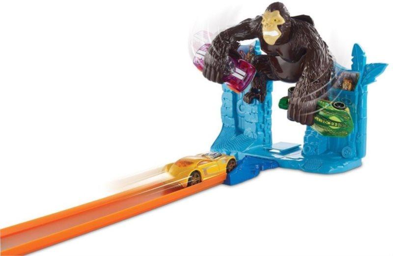 MATTEL Hot Wheels Dráha závodní překážky - Útok gorily
