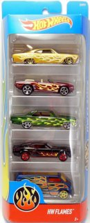 Hot Wheels Flames sada 5 ks