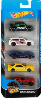 Hot Wheels Night Burnerz sada 5 ks