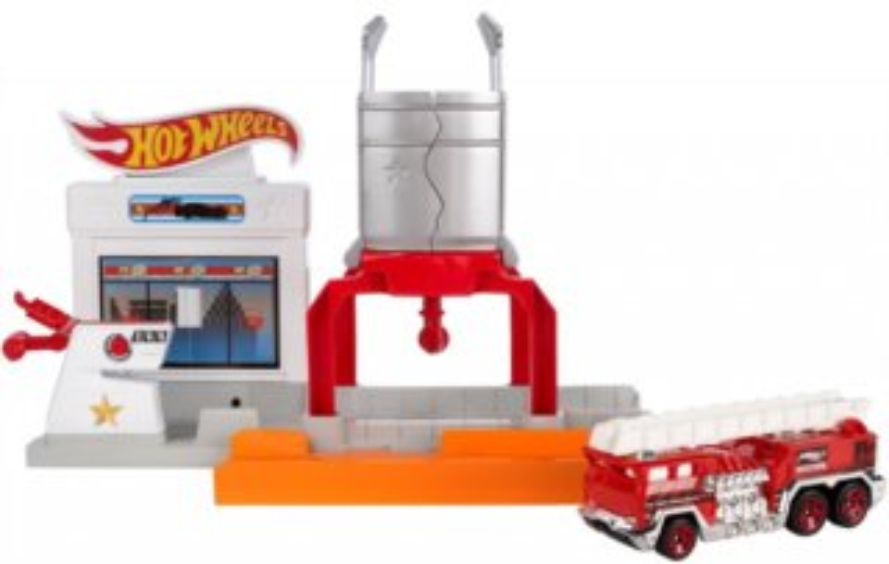 MATTEL Hot Wheels skládací set - Ohnivá exploze