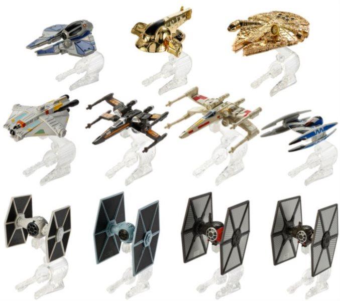 MATTEL Hot Wheels Star Wars hvězdné lodě
