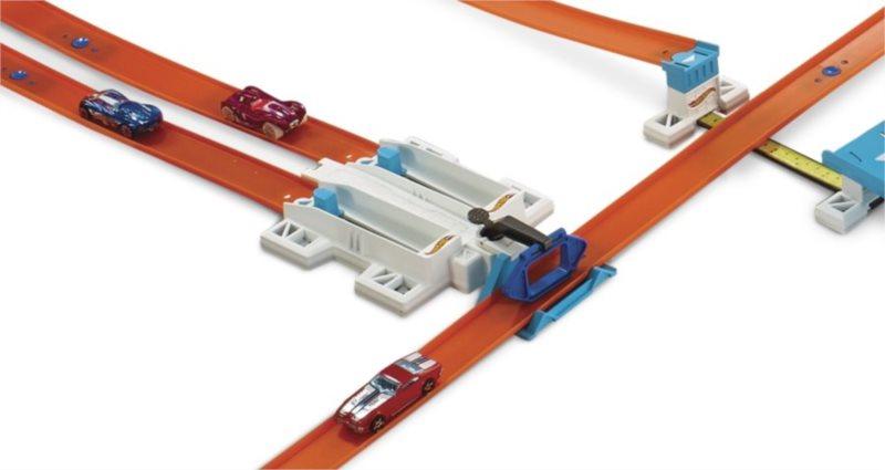 MATTEL Hot Wheels Track builder s doplňky a dráhou - 2-Lane Launcher
