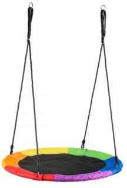 ECOTOYS Houpací kruh Čapí hnízdo (průměr 100cm) duhový