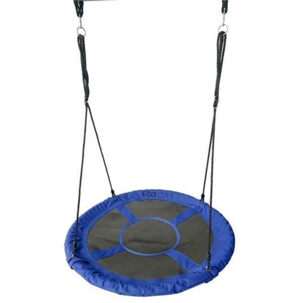 ECOTOYS Houpací kruh Čapí hnízdo (průměr 100cm) modrý
