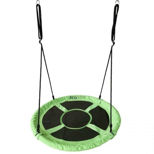 ECOTOYS Houpací kruh Čapí hnízdo (průměr 100cm) zelený