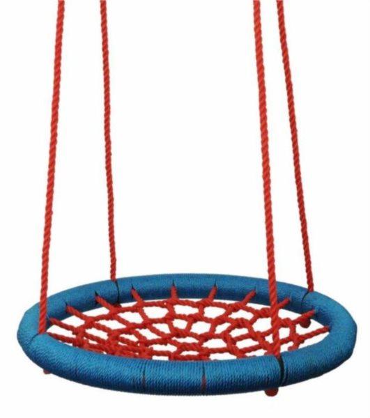 WOODY Houpací kruh červeno-modrý (průměr 100 cm)