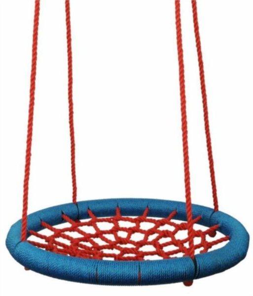WOODY Houpací kruh červeno-modrý (průměr 85 cm)