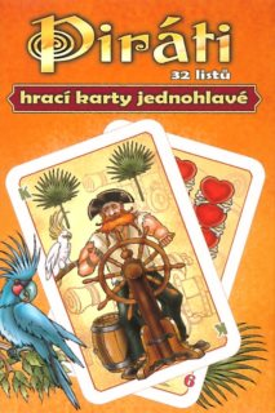 Piráti - Jednohlavé hrací karty