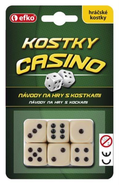 Hrací kostky Casino (6ks)