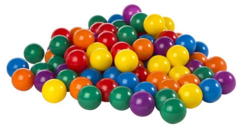 Hrací míčky do bazénu 100 ks (průměr 8 cm)