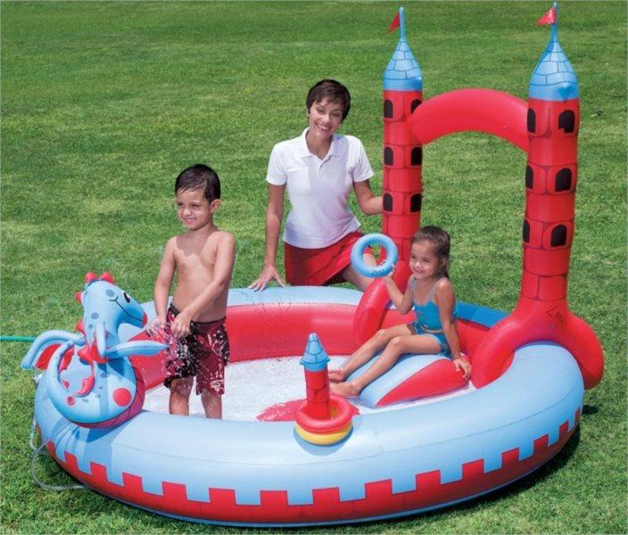 BESTWAY Interaktivní dětský nafukovací bazén Hrad