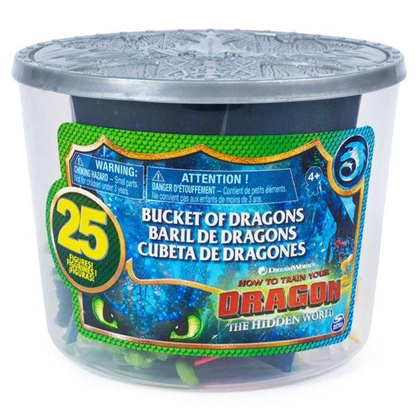 SPIN MASTER Jak vycvičit draka 3: Kyblík plný draků
