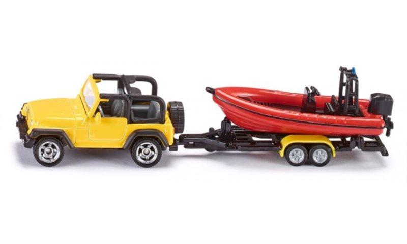 SIKU 1658 Jeep se člunem