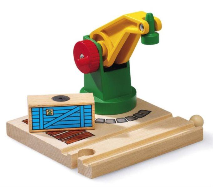 BRIO 33245 Jeřáb s magnetickým nákladem