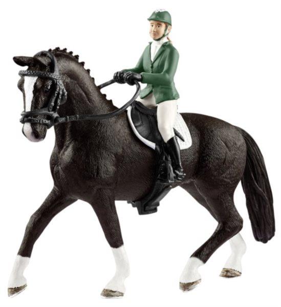 SCHLEICH Parkurová jezdkyně s koněm