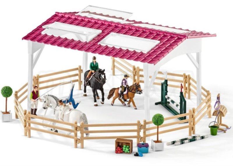 SCHLEICH Jezdecká škola s jezdci a koňmi