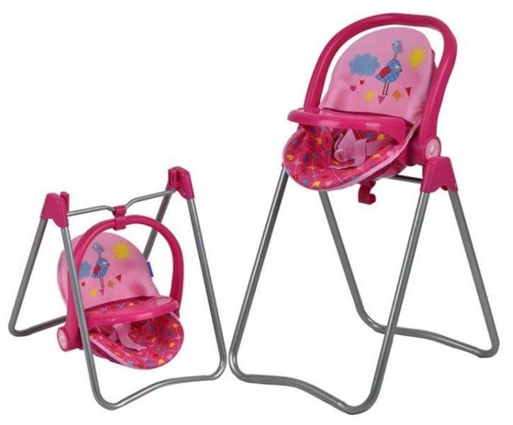 HAUCK Jídelní židlička pro panenky 3v1 - Birdie