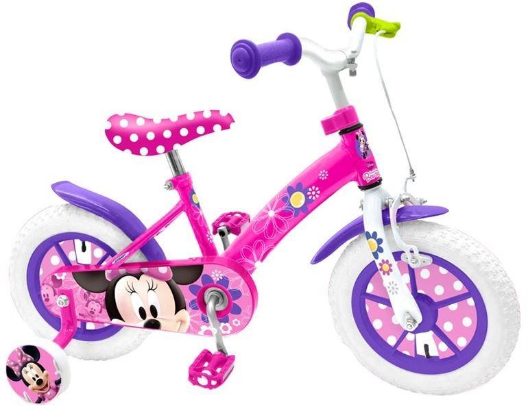 """Jízdní kolo 12"""" Minnie s postranními kolečky"""