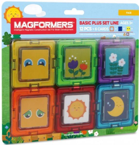 Magnetická stavebnice MAGFORMERS Kartičky obličeje