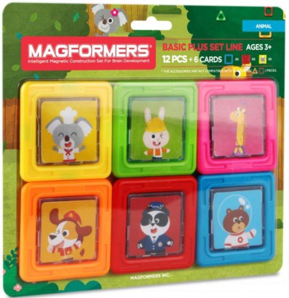 Magnetická stavebnice MAGFORMERS Kartičky zvířátka
