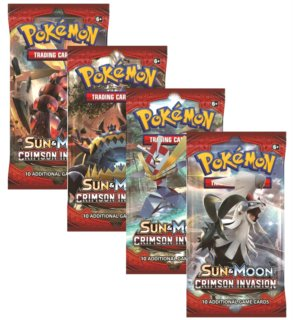Karty Pokémon Sun and Moon: Crimson Invasion Booster