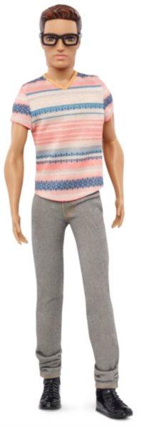 MATTEL Ken model v pruhovaném tričku