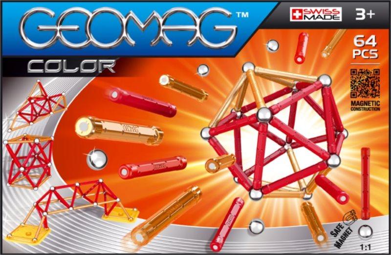 Magnetická stavebnice GEOMAG - Kids Color 64 dílků