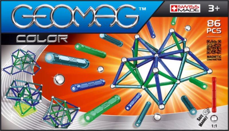 Magnetická stavebnice GEOMAG - Kids Color 86 dílků