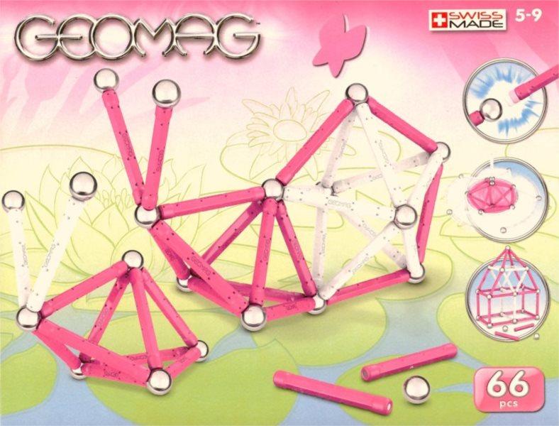 Magnetická stavebnice GEOMAG - Kids Color Girl 66 dílků
