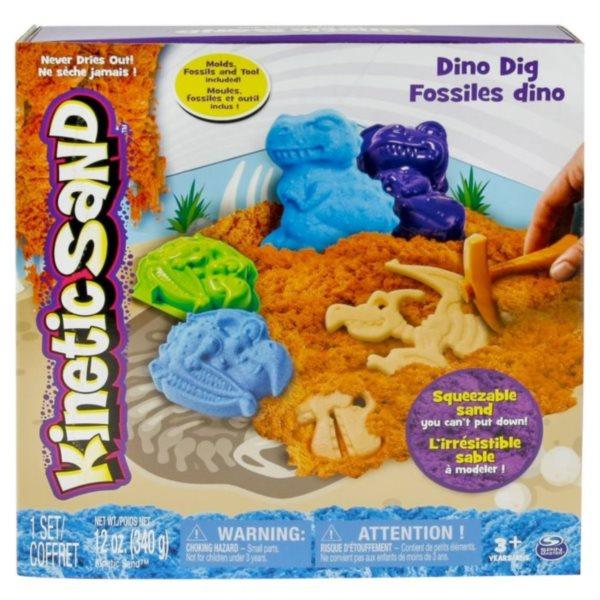 Kinetický písek KINETIC SAND™ Vykopej si svého dinosaura 340 g
