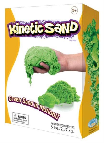 Kinetický písek KINETIC SAND™ zelený 2,27 kg