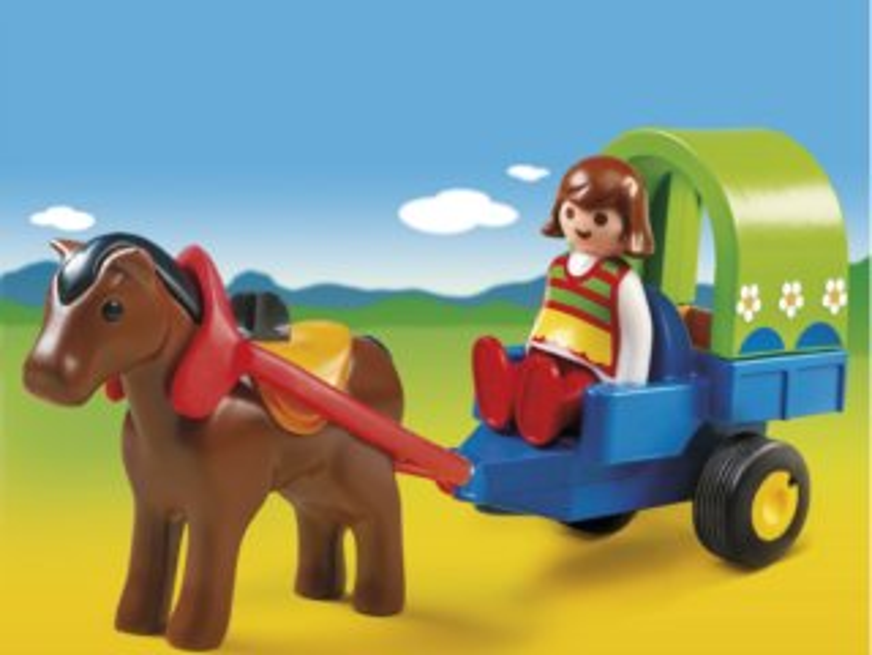 Playmobil 6779 Kočár s poníkem (1.2.3)